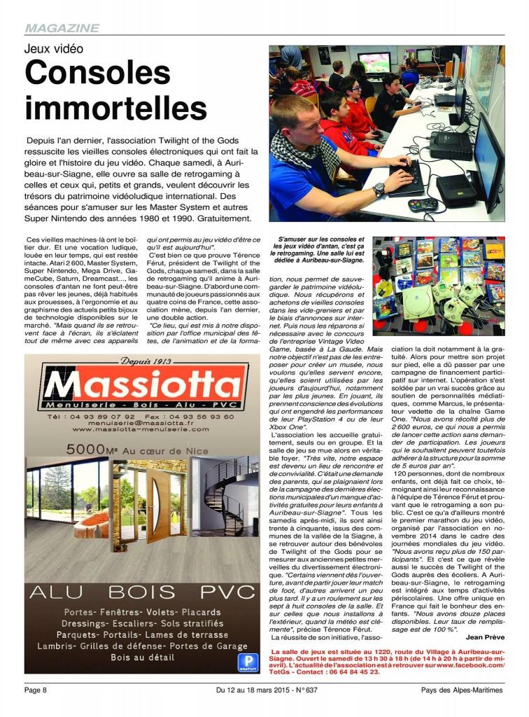 Article paru dans Pays Alpes-Maritimes n°637